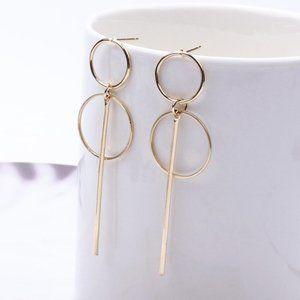 5 for $25 Circle Bar Geometric Metal Earrings